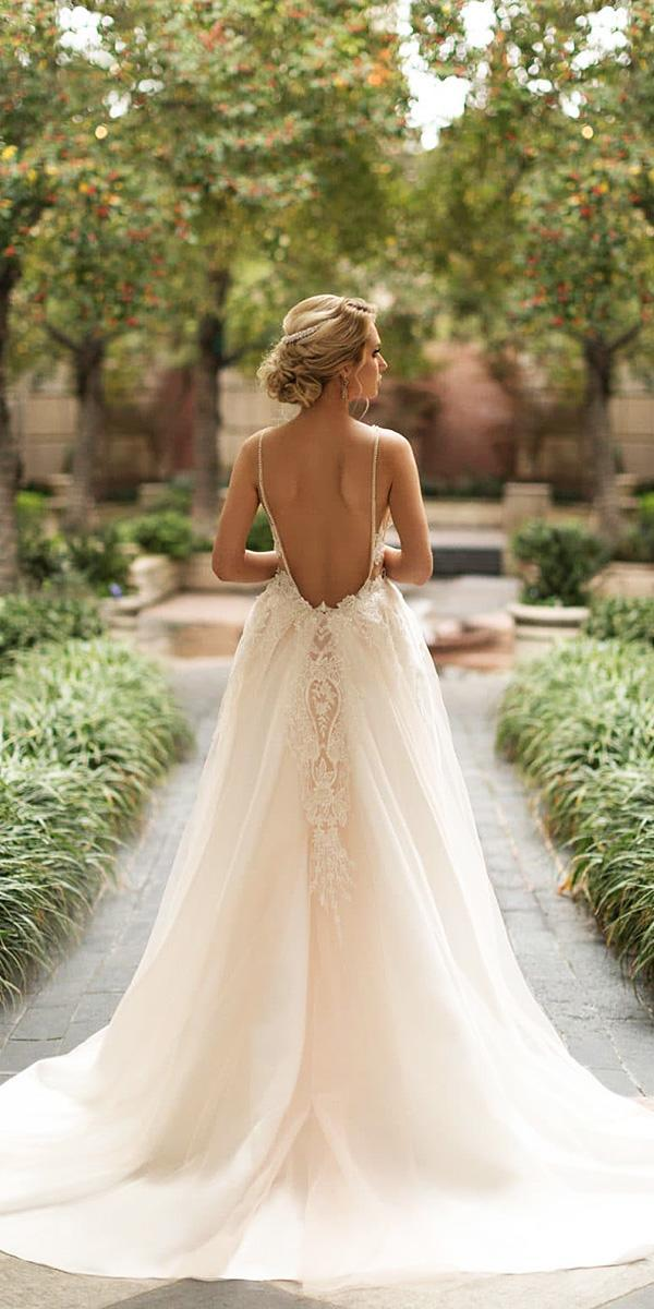 naama and anat wedding dresses 2019 low back with straps overskirt blush