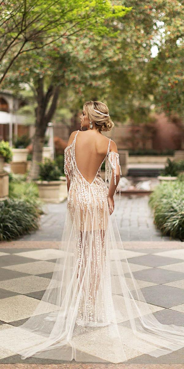 naama and anat wedding dresses 2019 with spaghetti straps low back beach