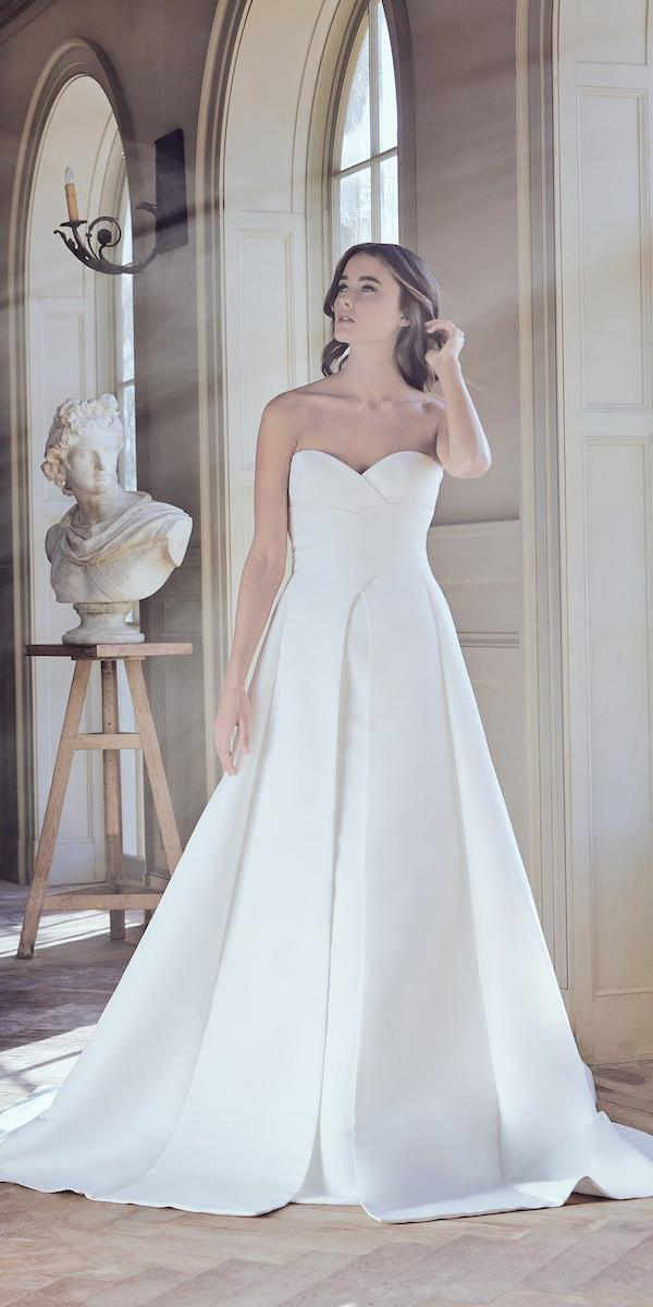 sareh nouri wedding dresses 2019 a line sweetheart strapless simple