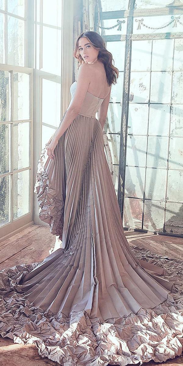 sareh nouri wedding dresses 2019 high low colored unique