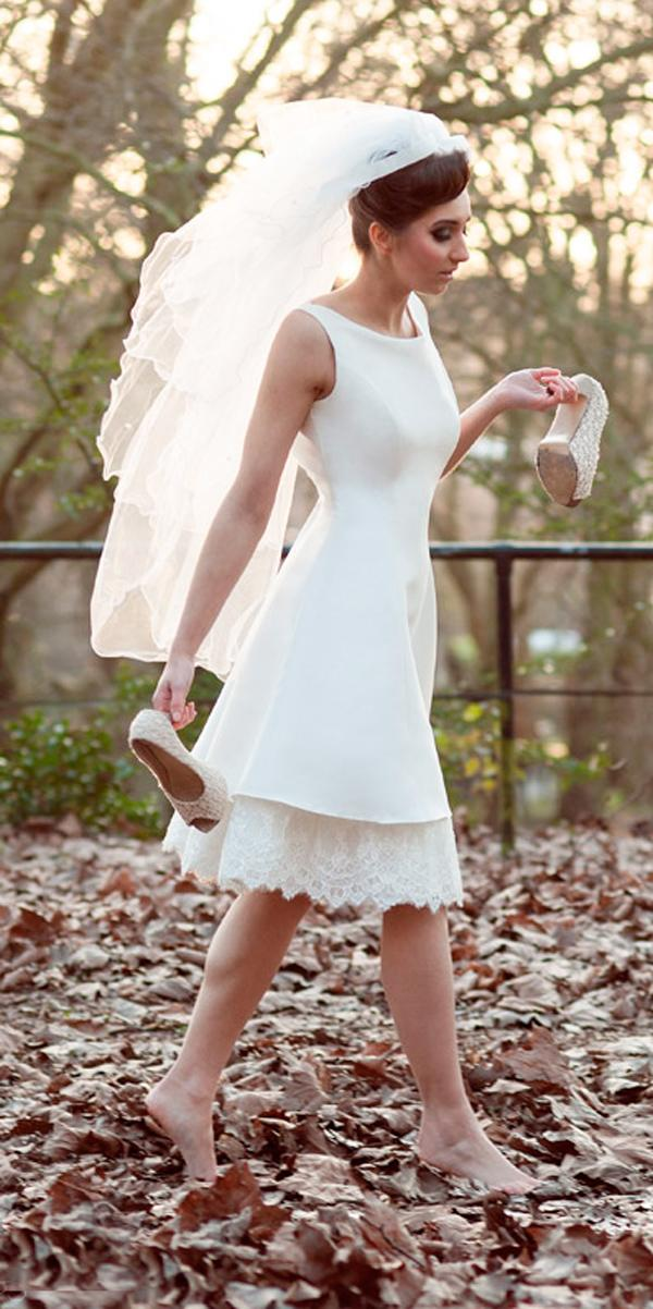 short simple bateau neckline sleeveless wedding dresses tobi hannah