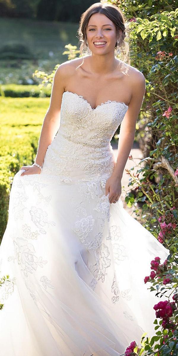 sophia tolli wedding dresses 2019 a line strapless sweetheart neckline lace beaded belt