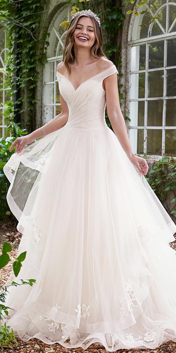 sophia tolli wedding dresses 2019 ball gown v neckline tulle skirt layered
