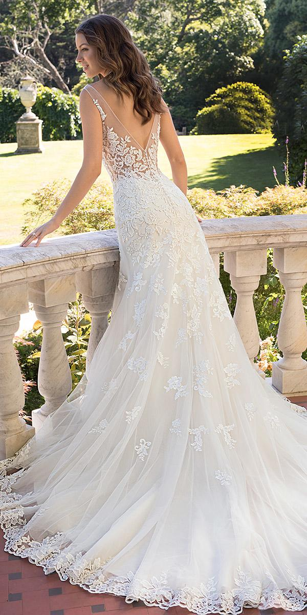 sophia tolli wedding dresses 2019 for summer trumpet v back floral lace appliques