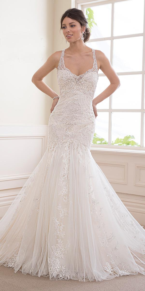 sophia tolli wedding dresses 2019 trumpet with straps full lace sweetheart neckline