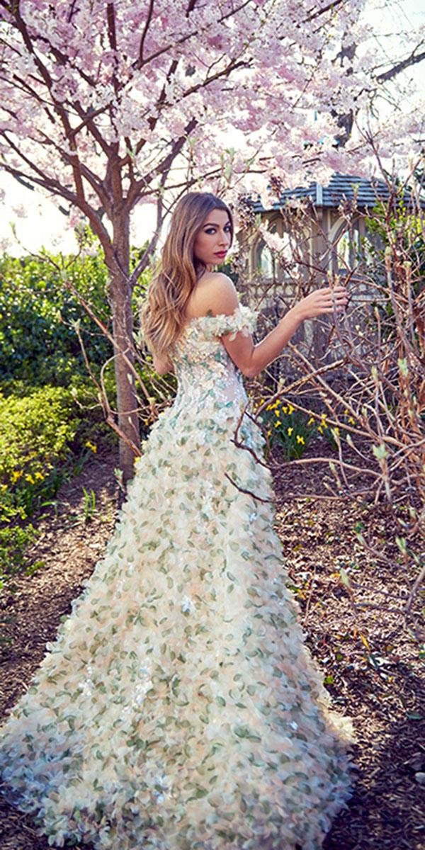 ysa makino wedding dresses a line off the shoulder with 3d floral
