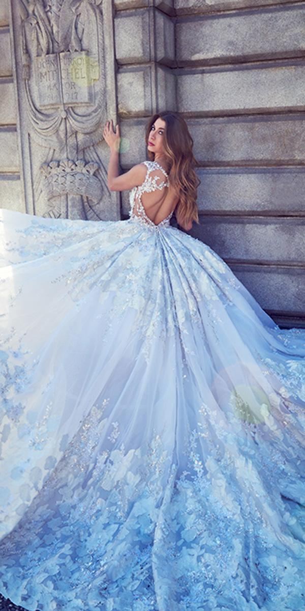 ysa makino wedding dresses ball gown open back blue color