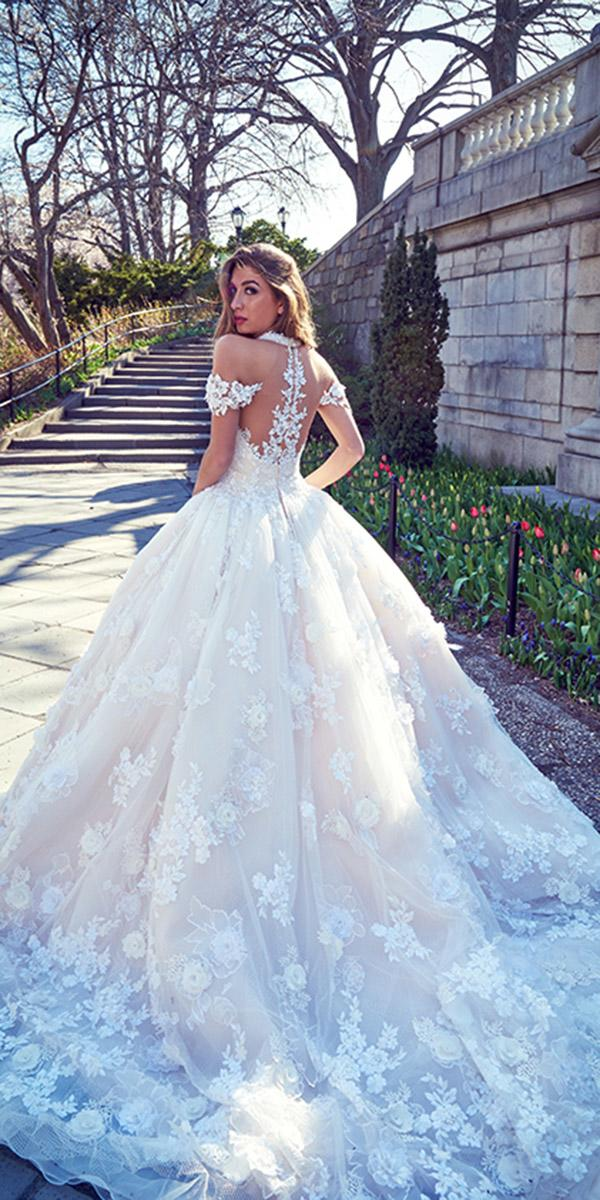 ysa makino wedding dresses ball gown tattoo effect back-off the shoulder lace
