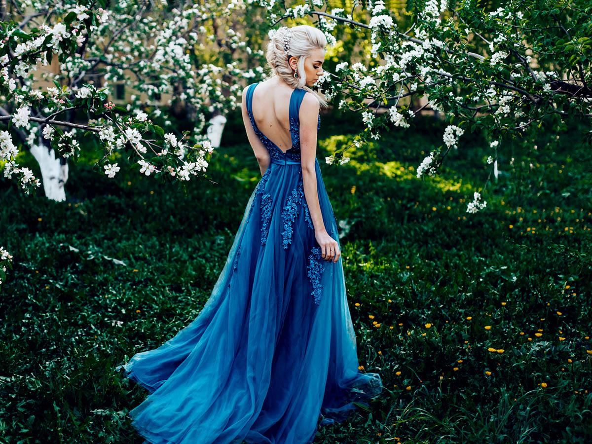 blue wedding dresses featured