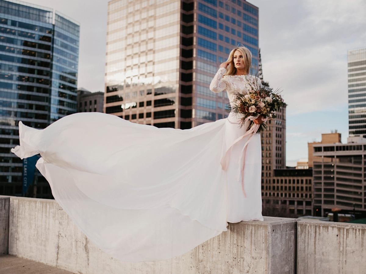 bridal gowns with sleeves featured ashley smith photography