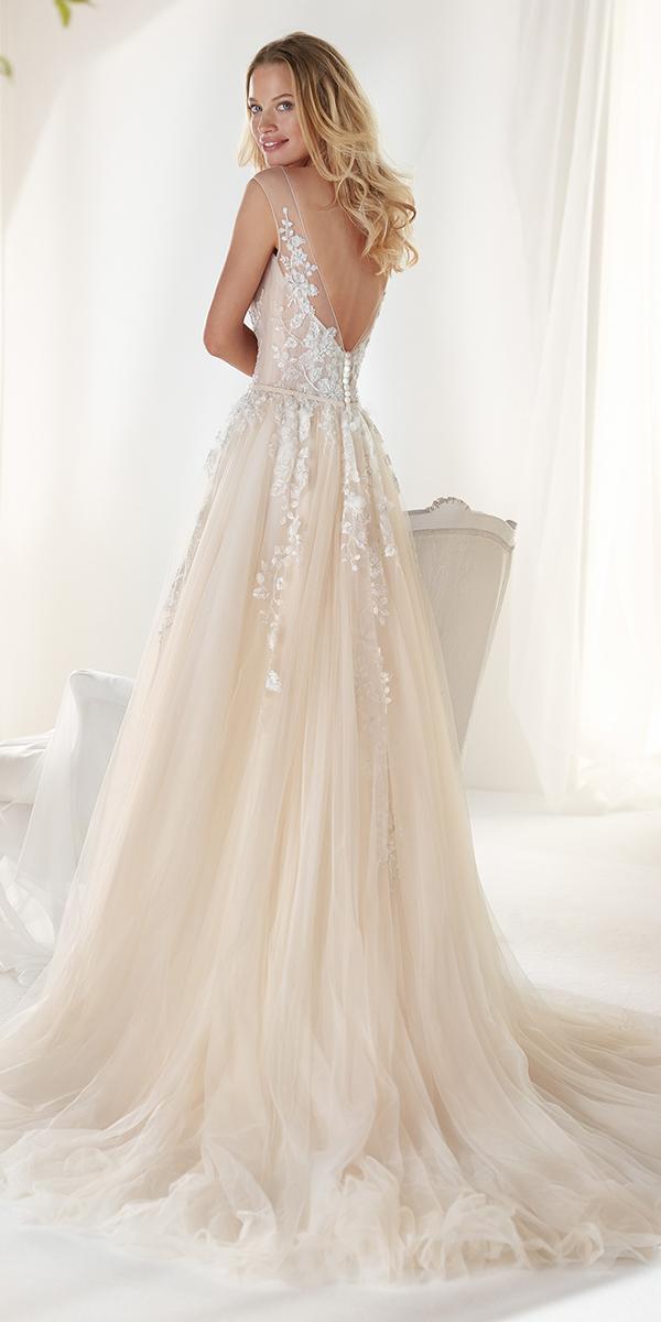 colet by nicole spose 2019 wedding dresses a line v back lace ivory