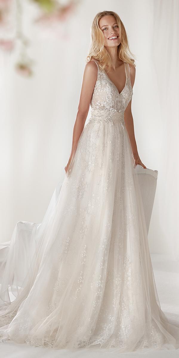 colet by nicole spose 2019 wedding dresses a line v neckline full lace romantic