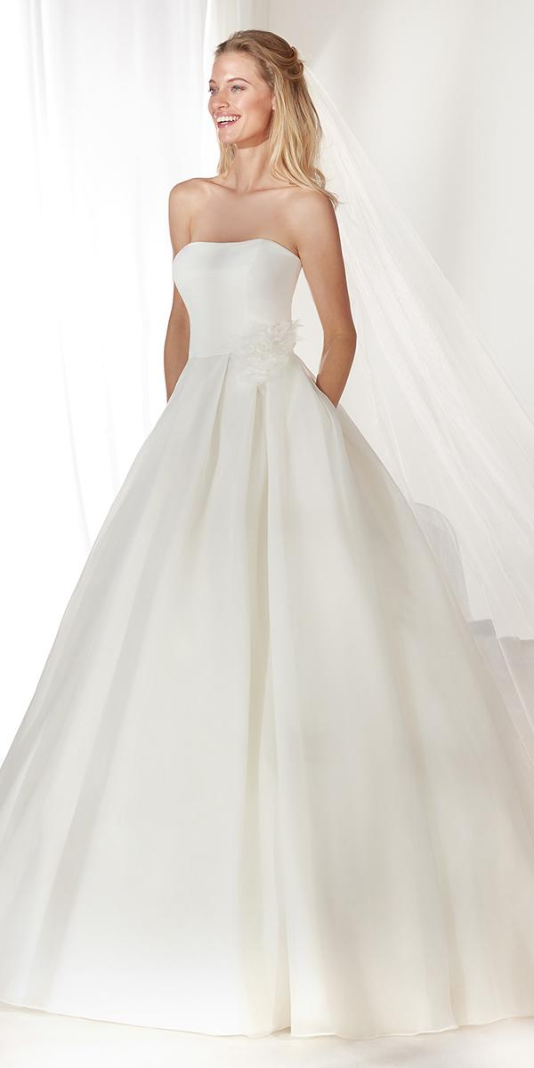 colet by nicole spose 2019 wedding dresses ball gown simple straight neckline
