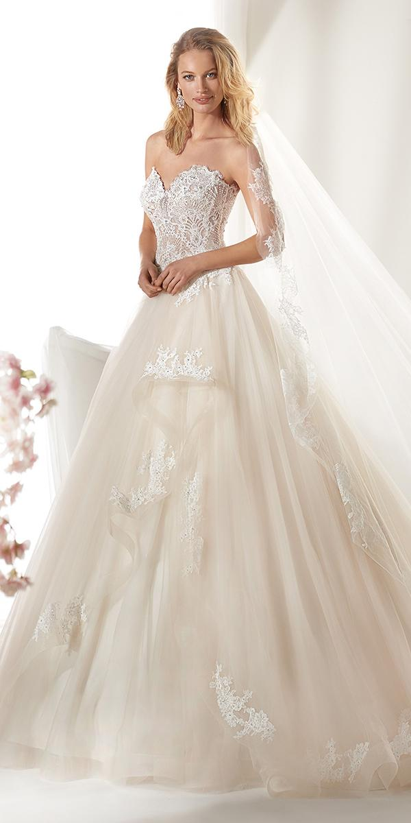 colet by nicole spose 2019 wedding dresses ball gown sweetheart strapless lace top
