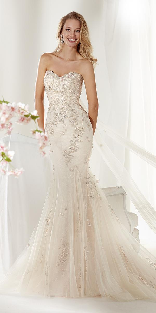 colet by nicole spose 2019 wedding dresses mermaid sweetheart strapless beaded ivory