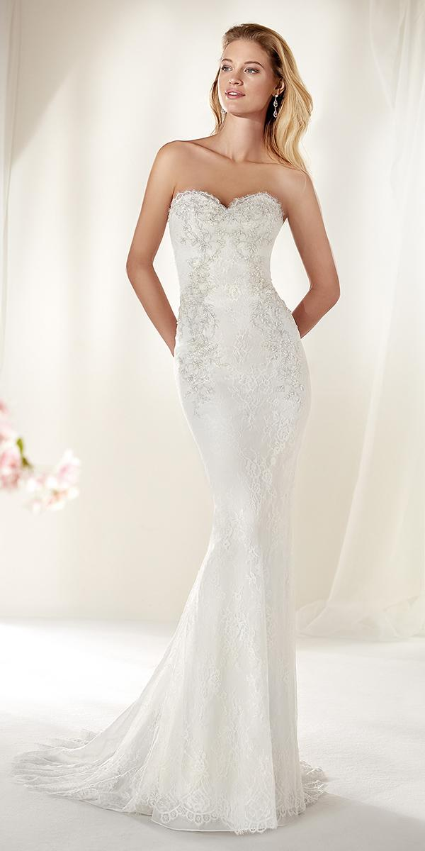 colet by nicole spose 2019 wedding dresses mermaid sweetheart strapless lace floral for summer