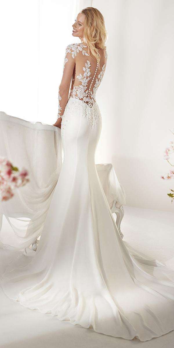 colet by nicole spose 2019 wedding dresses mermaid with illusion long sleeves tatto effect back