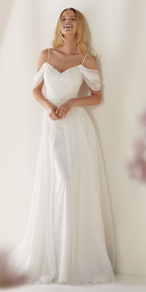colet by nicole spose 2019 wedding dresses modest with spaghetti straps off the shoulder for beach romantic