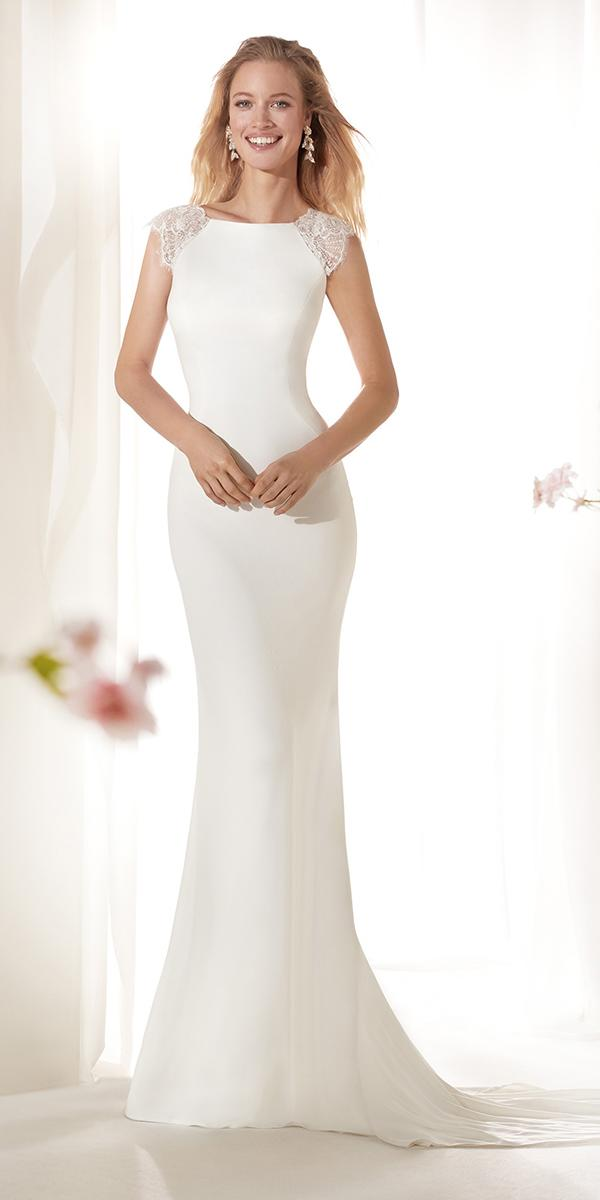 colet by nicole spose 2019 wedding dresses trumpet with cap lace sleeves modest