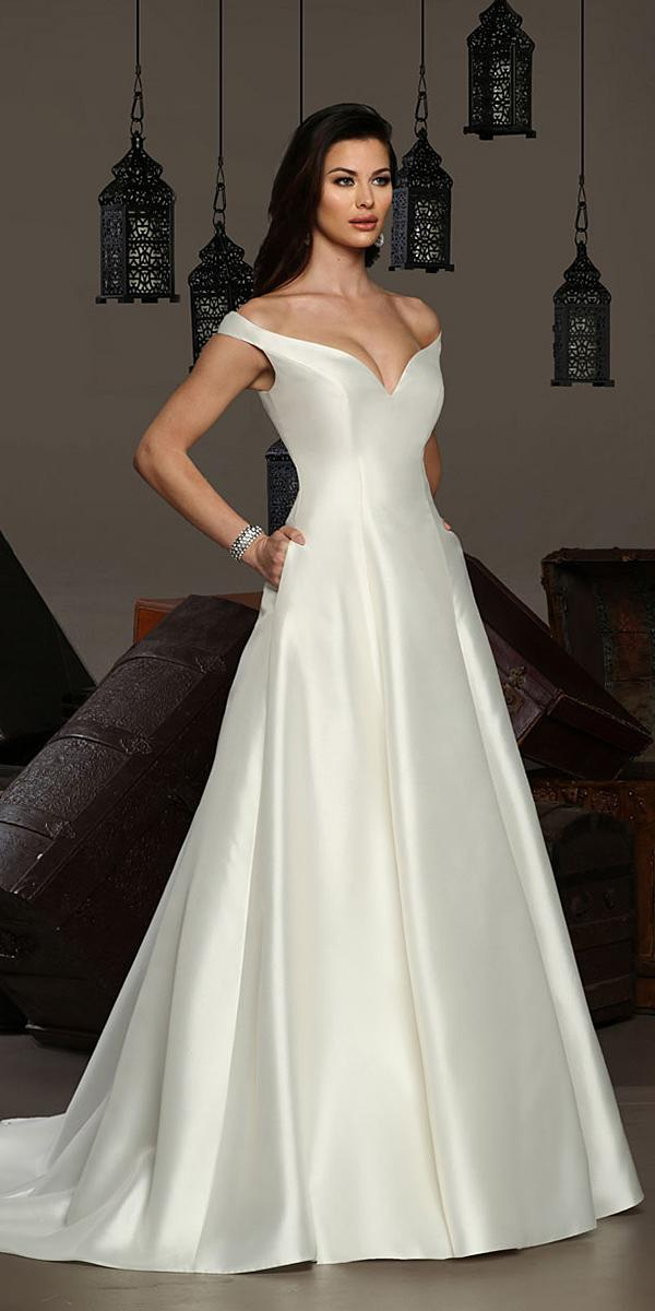 lucci wedding dresses a line simple off the shoulder modest