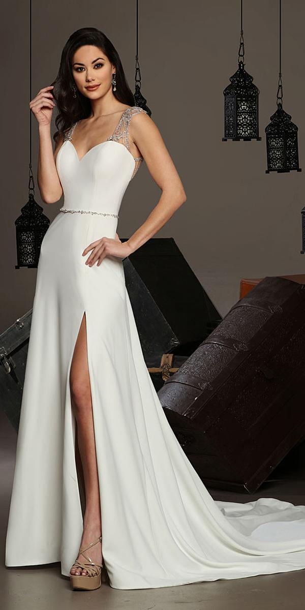 cristiano lucci wedding dresses a line with beaded straps sweetheart simple slit
