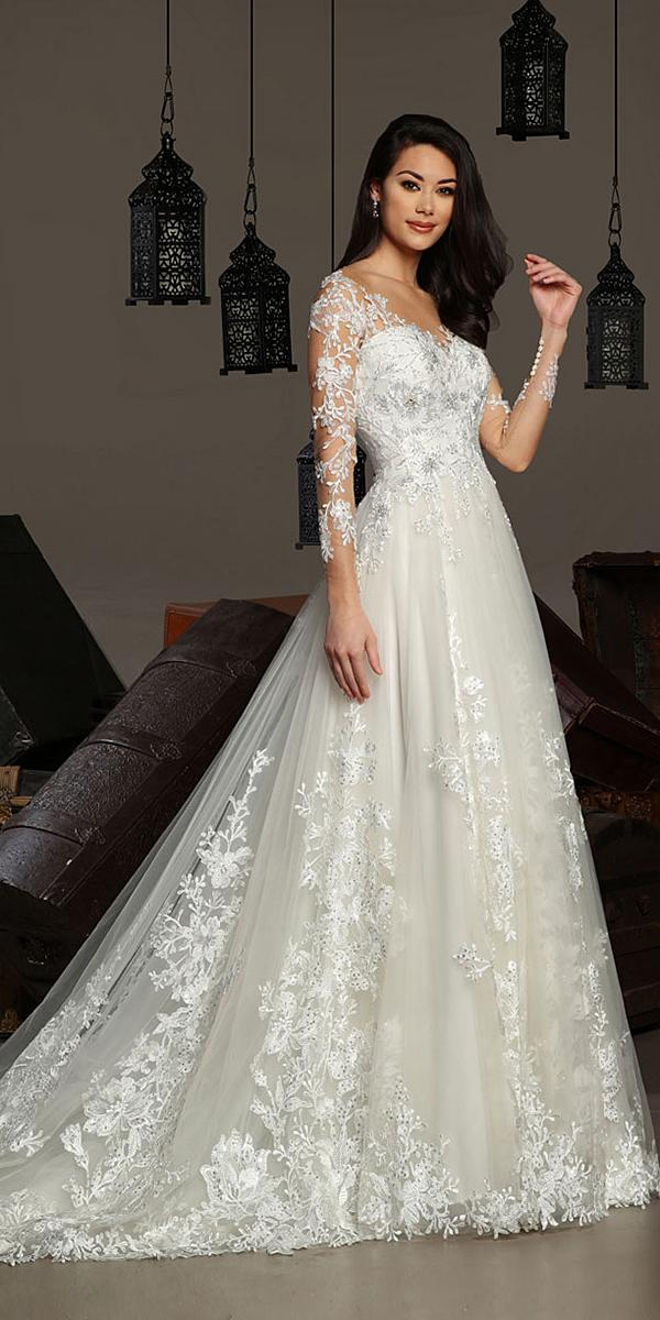 cristiano lucci wedding dresses a line with long sleeves lace floral