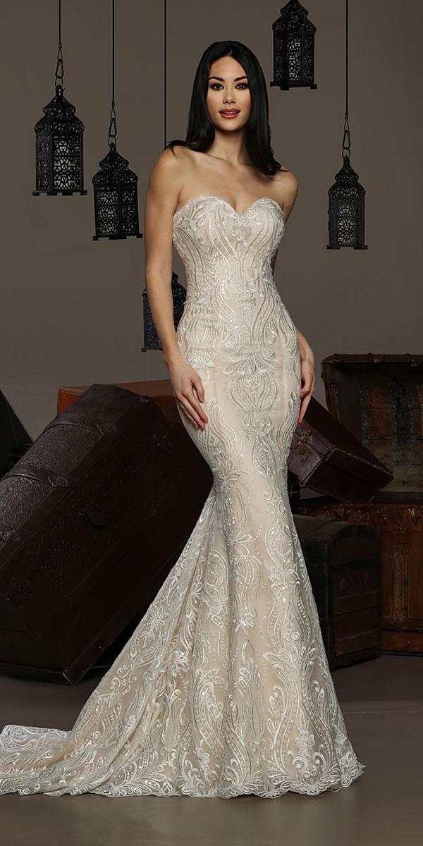 cristiano lucci wedding dresses mermaid sweetheart strapless lace ivory