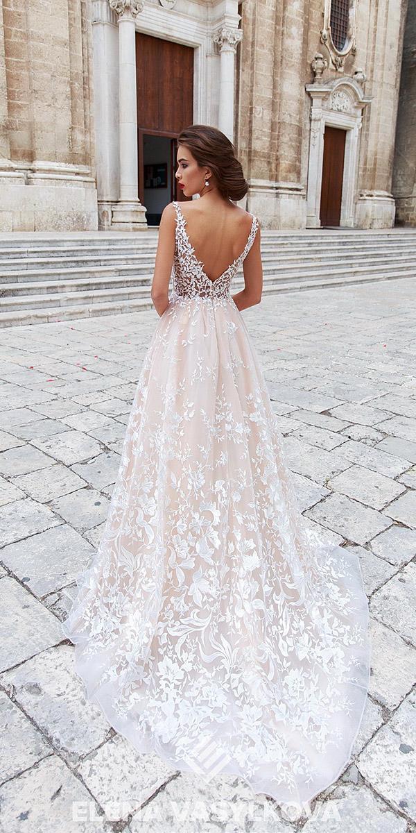 elena vasylkova wedding dresses 2018 beach v back lace blush
