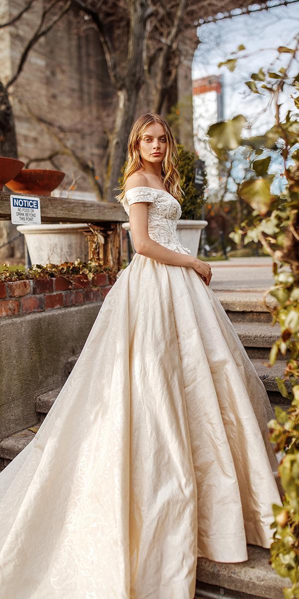 eva lendel wedding dresses 2019 ball gown off the shoulder beaded top