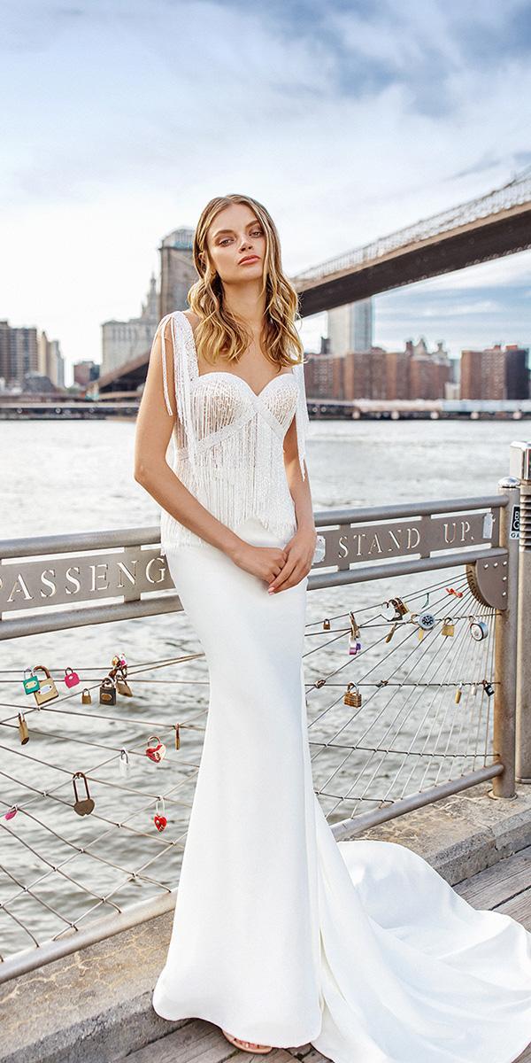 eva lendel wedding dresses 2019 simple sweetheart trumpet for beach white