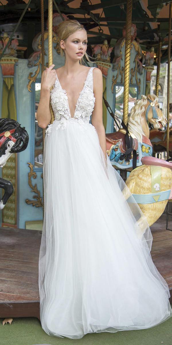 lavish by persy wedding dresses a line beach deep v neckline floral top