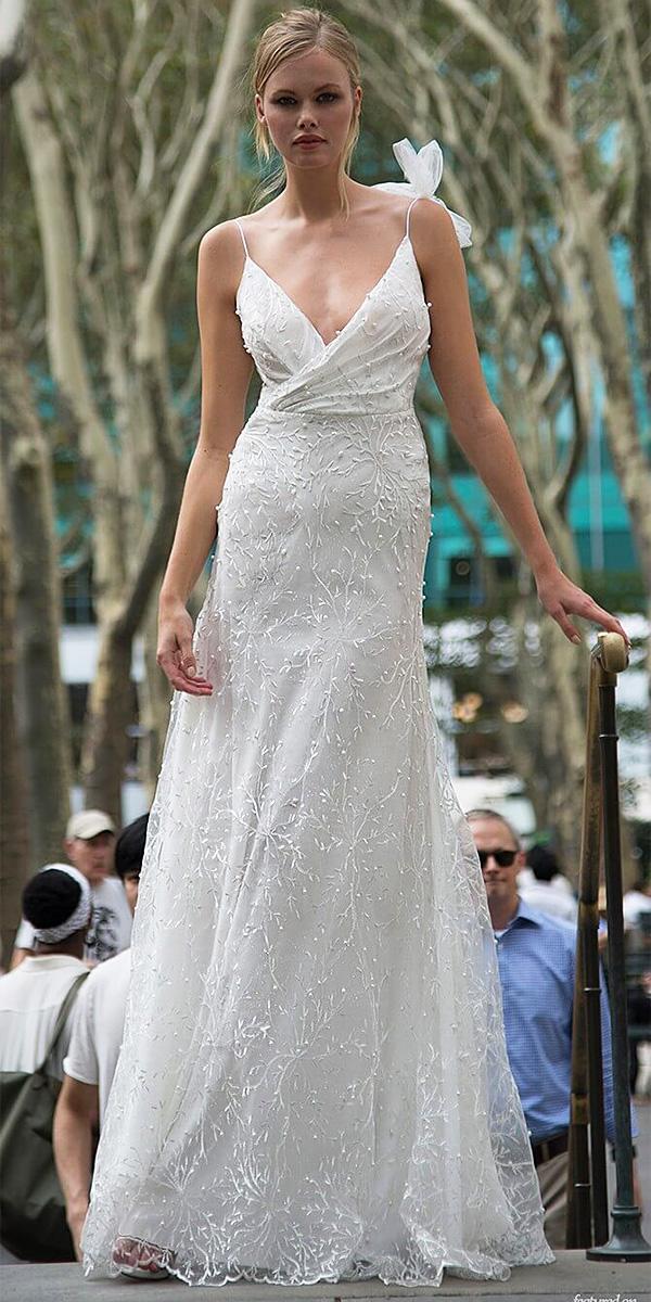 lavish by persy wedding dresses sheath beach rustic with spaghetti straps floral appliques