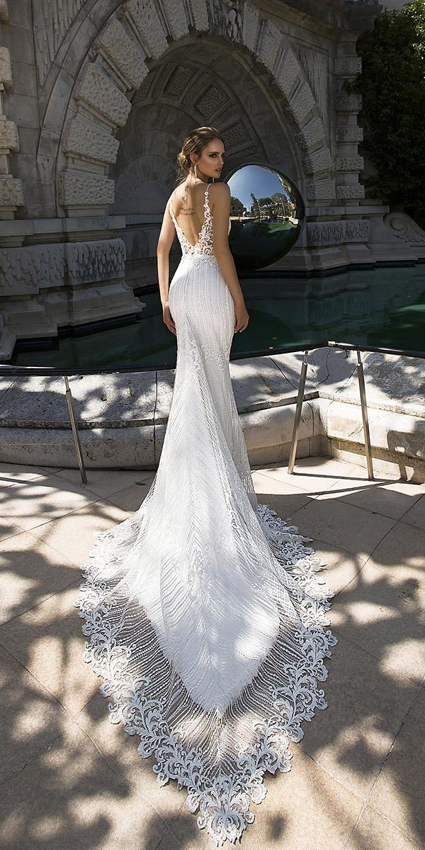 tina valerdi wedding dresses fit and flare open back with spaghetti straps lace for beach