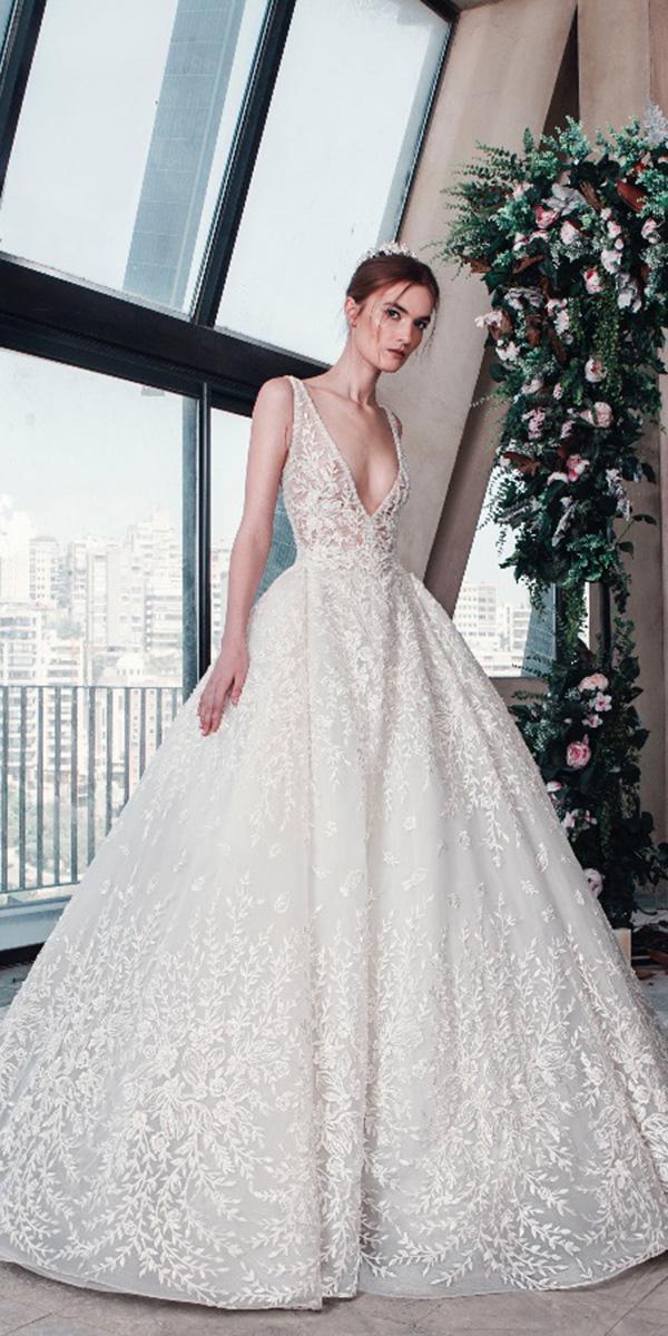tony ward wedding dresses 2019 gown v neckline lace sleveless