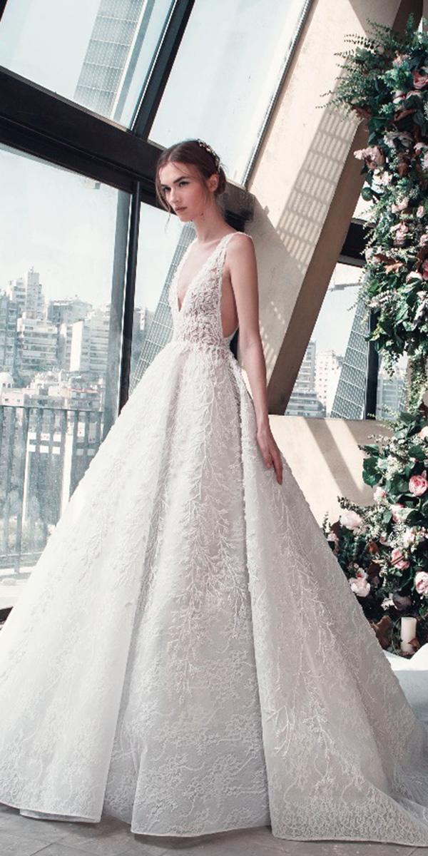 tony ward wedding dresses 2019 princess v neckline lace sleveless