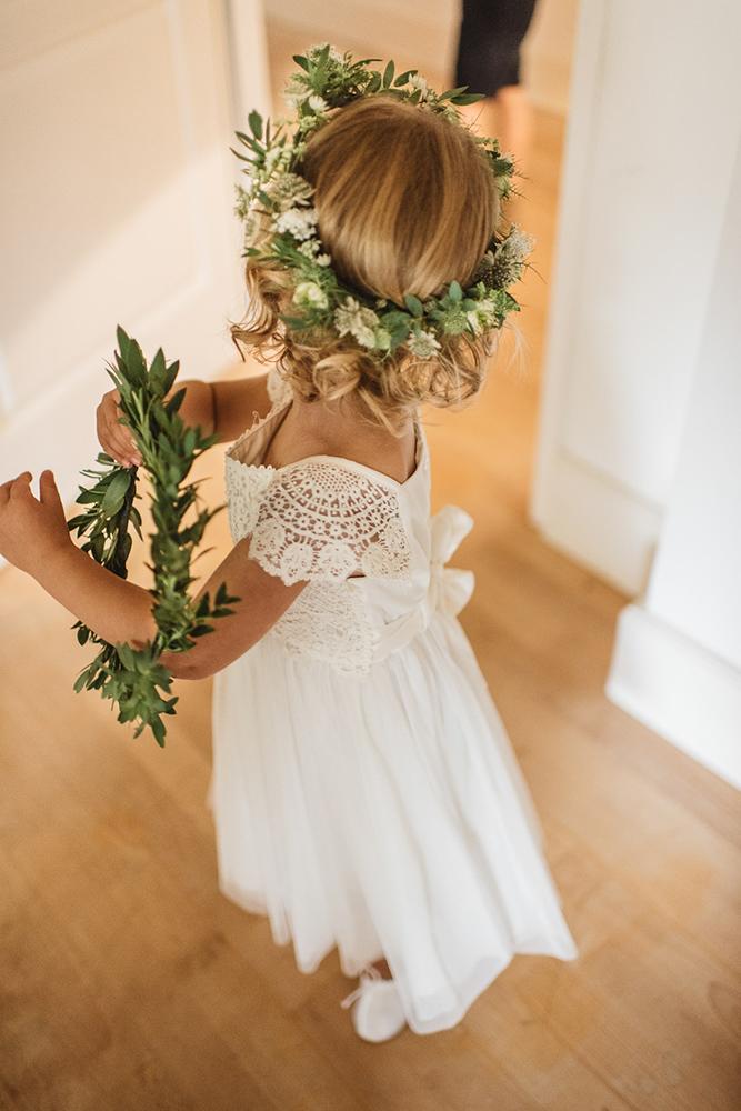 vintage flower girl dresses boho rustic with cap sleeves bow