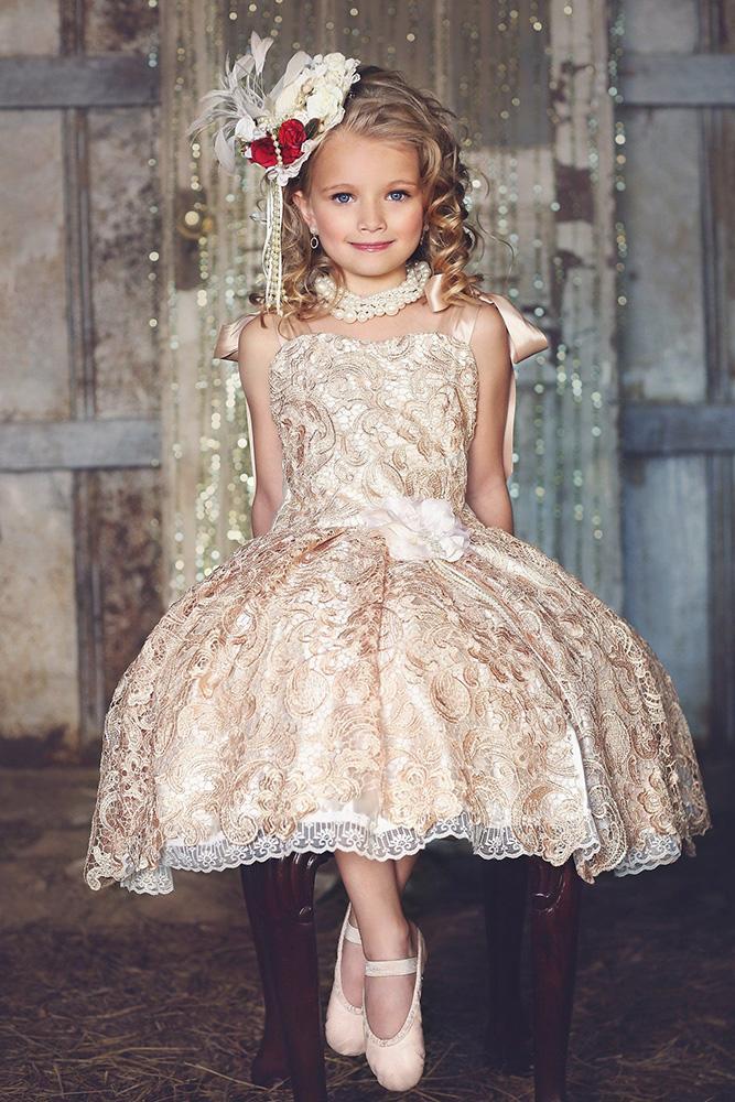 vintage flower girl dresses gatsby blush lace melissa jane designs