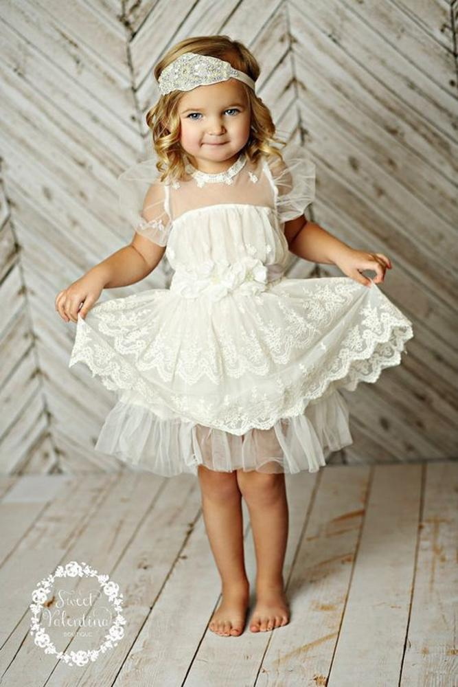 vintage flower girl dresses gatsby with cap sleeves lace sweet valentine