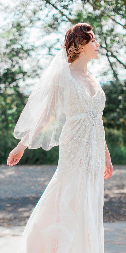 vintage straight v neck spaghetti straps lace bling wedding dresses 1920s jobradbury