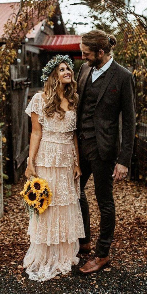 21 Amazing Boho Wedding Dresses With Sleeves Wedding Dresses Guide