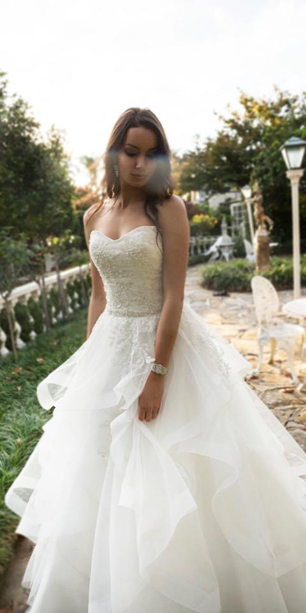 christina rossi wedding dresses a line strapless ruffled skirt 2018