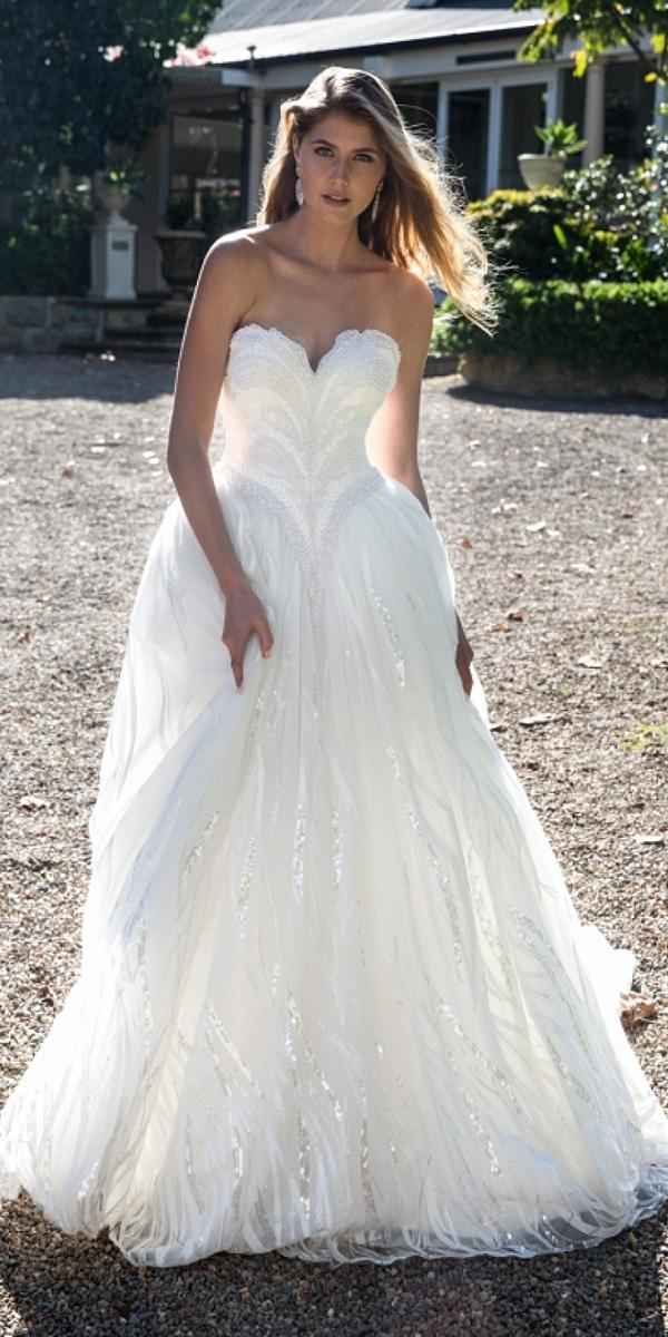 christina rossi wedding dresses ball gown sweetheart strapless sequins