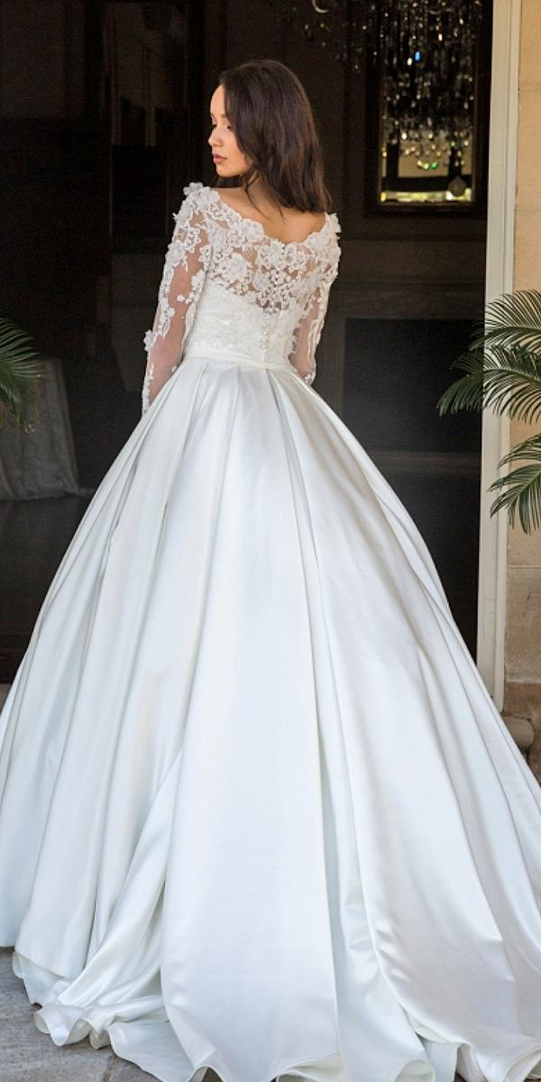 christina rossi wedding dresses ball gown long lace top 2018