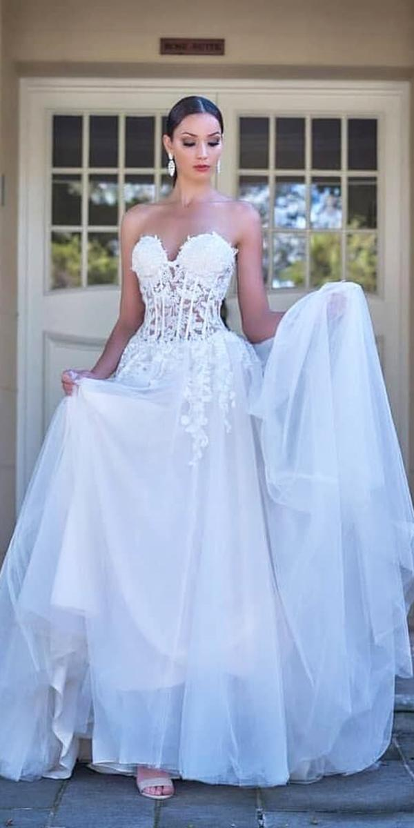 christina rossi wedding dresses for real bride strapless sweetheart