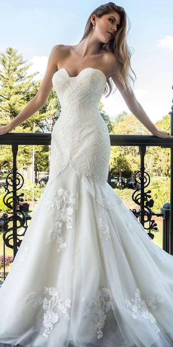 christina rossi wedding dresses mermaid for beach sweetheart strapless lace 2018
