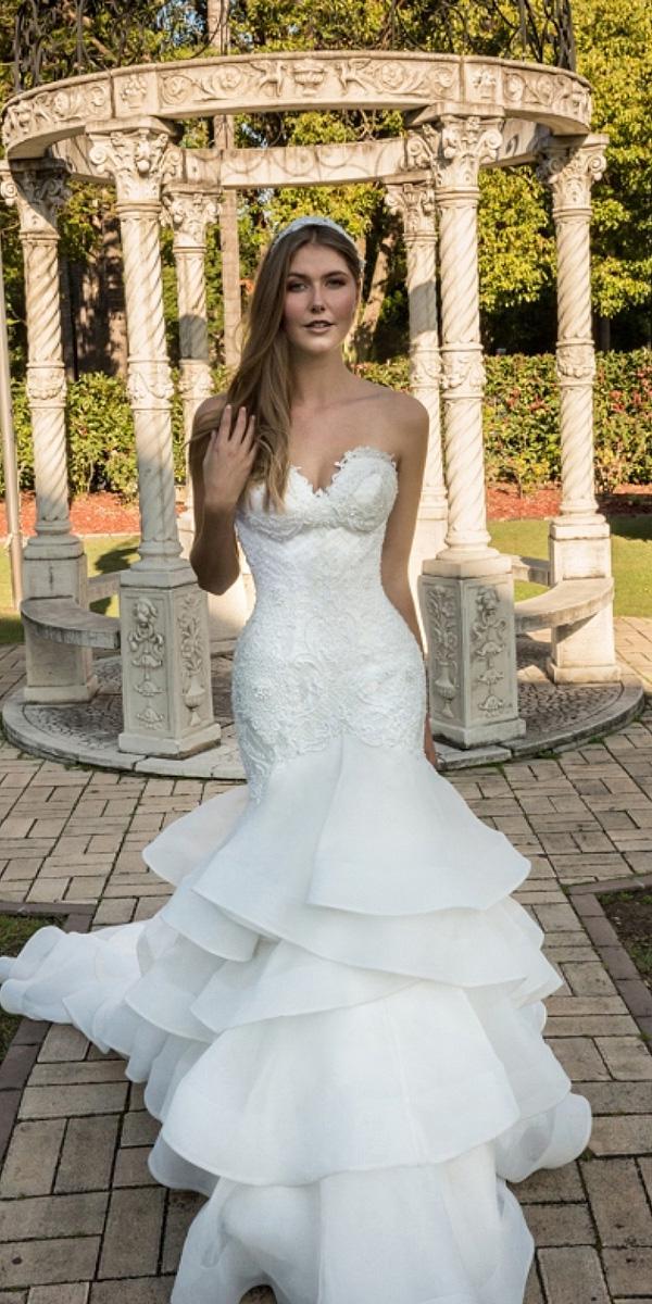 christina rossi wedding dresses mermaid straplesss sweetheart lace 2018 beach