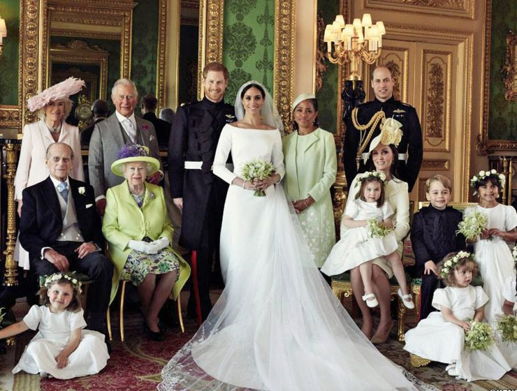 meghan markle and prince harry royal wedding family photo clare waight keller