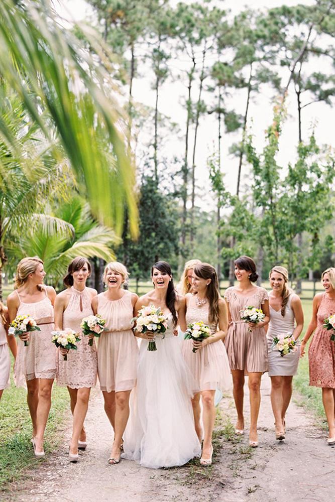 short bridesmaids dresses champagne color rustic davids bridal