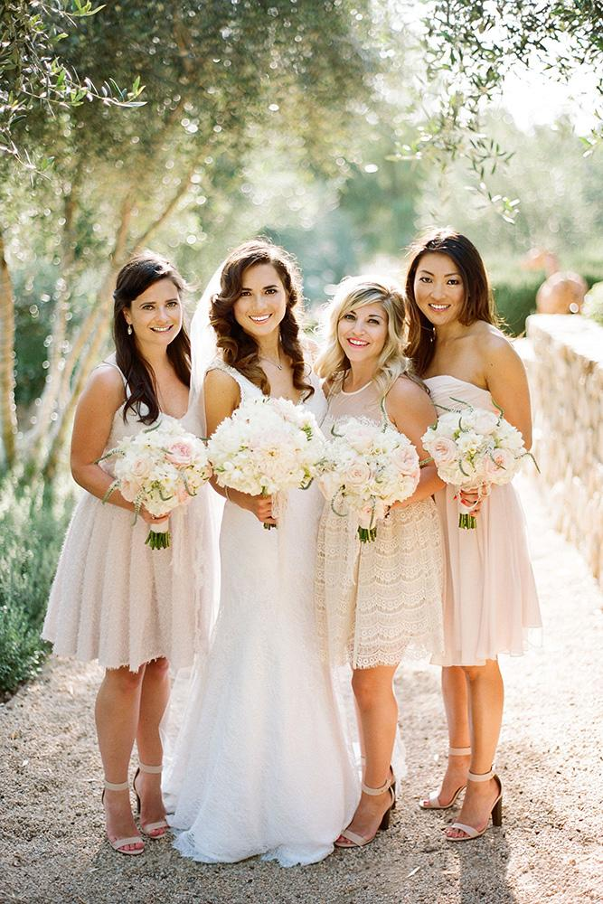 short bridesmaids dresses champagne lace simple summer clayton austin
