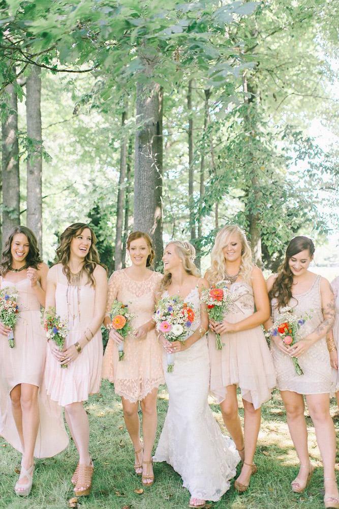 short bridesmaids dresses champagne rustic elizabeth fogarty